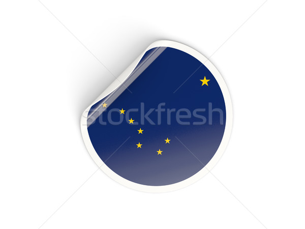 Vlag sticker geïsoleerd witte 3d illustration label Stockfoto © MikhailMishchenko