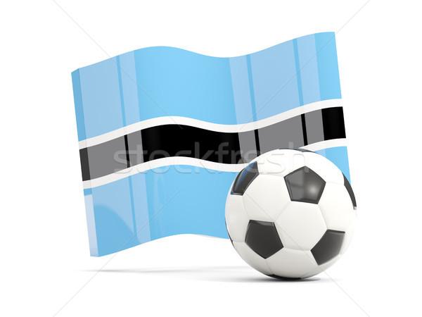 Football with waving flag of botswana isolated on white Stock photo © MikhailMishchenko