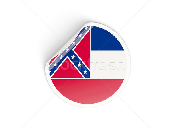 Flag of mississippi, US state round sticker Stock photo © MikhailMishchenko
