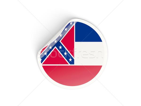 Bayrak etiket yalıtılmış beyaz 3d illustration etiket Stok fotoğraf © MikhailMishchenko