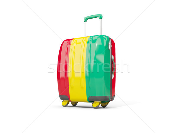 Bagażu banderą walizkę odizolowany biały 3d ilustracji Zdjęcia stock © MikhailMishchenko
