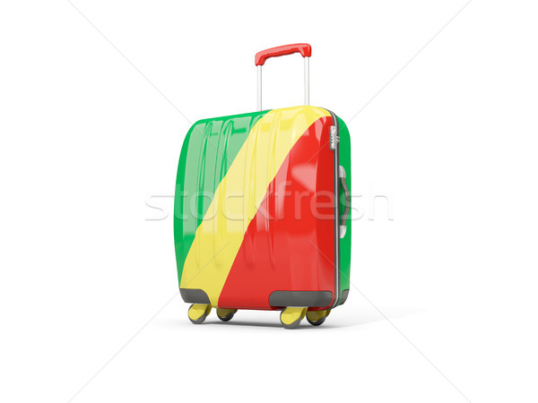 Bagaj bayrak cumhuriyet bavul yalıtılmış beyaz Stok fotoğraf © MikhailMishchenko