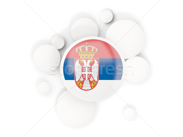 Bandera círculos patrón aislado blanco 3d Foto stock © MikhailMishchenko