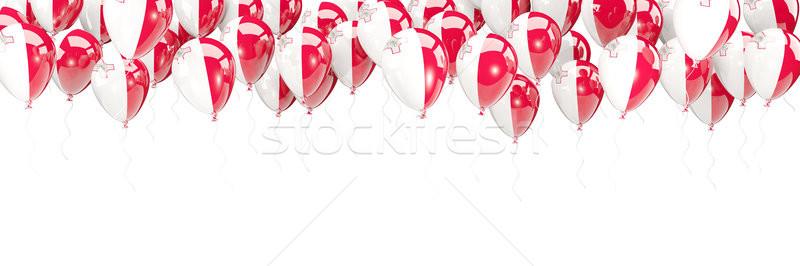 Balony ramki banderą Malta odizolowany biały Zdjęcia stock © MikhailMishchenko
