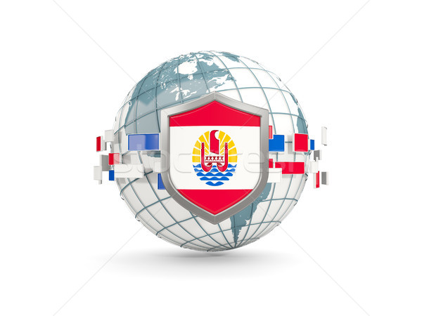Stok fotoğraf: Dünya · kalkan · bayrak · fransız · polinezya · yalıtılmış