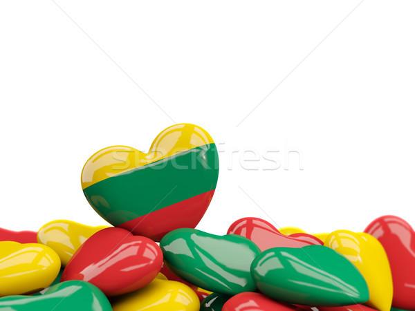 сердце флаг Литва Top сердцах изолированный Сток-фото © MikhailMishchenko