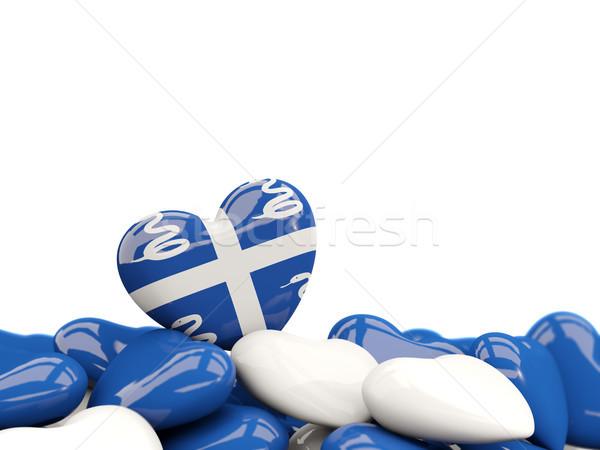 Heart with flag of martinique Stock photo © MikhailMishchenko