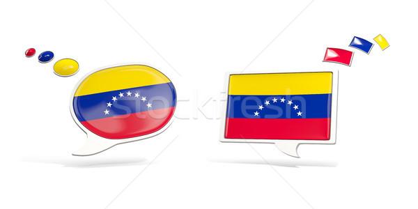 Kettő chat ikonok zászló Venezuela tér Stock fotó © MikhailMishchenko