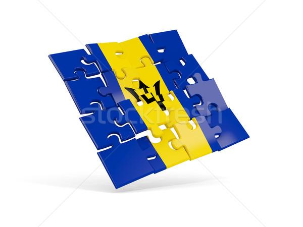 головоломки флаг Барбадос изолированный белый 3d иллюстрации Сток-фото © MikhailMishchenko