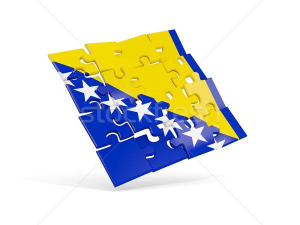 Rompecabezas bandera Bosnia Herzegovina aislado blanco 3d Foto stock © MikhailMishchenko