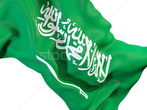 Integet zászló Szaúd-Arábia közelkép 3d illusztráció utazás Stock fotó © MikhailMishchenko