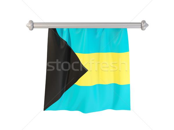 флаг Багамские острова изолированный белый 3d иллюстрации Label Сток-фото © MikhailMishchenko