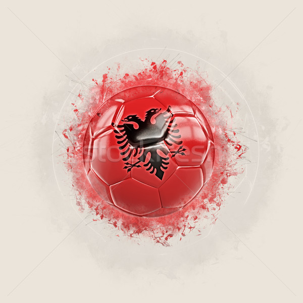 Grunge fútbol bandera Albania 3d mundo Foto stock © MikhailMishchenko