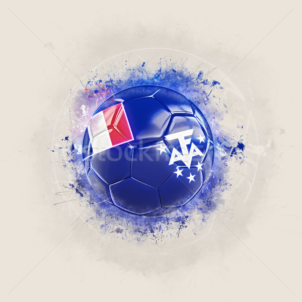Grunge football with flag of french southern territories Stock photo © MikhailMishchenko