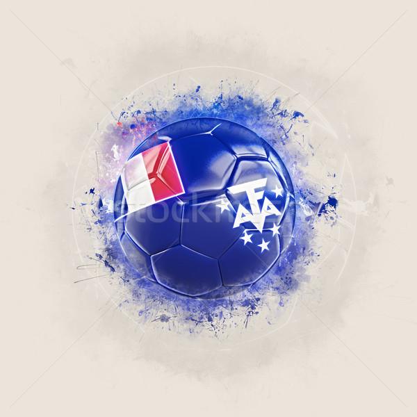 Grunge futball zászló francia déli 3d illusztráció Stock fotó © MikhailMishchenko