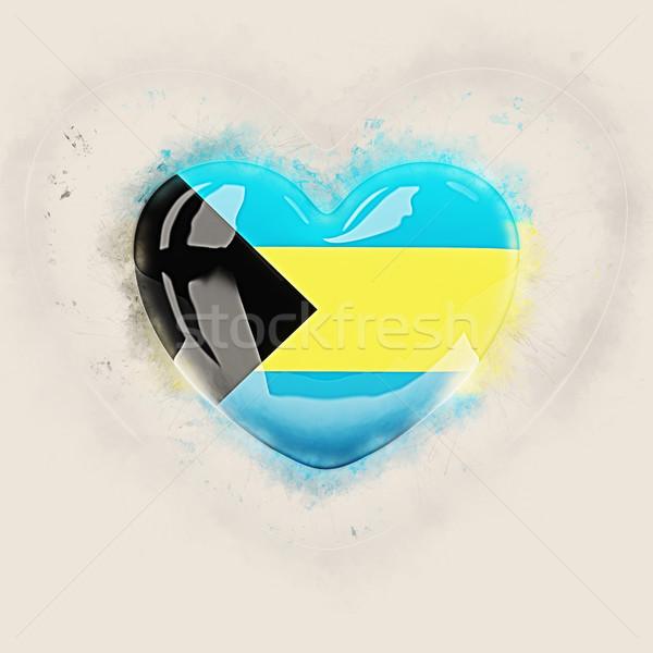 Heart with flag of bahamas Stock photo © MikhailMishchenko