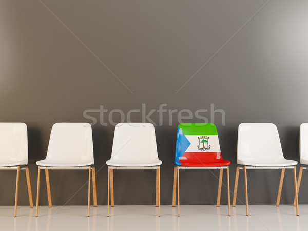 Chair with flag of equatorial guinea Stock photo © MikhailMishchenko
