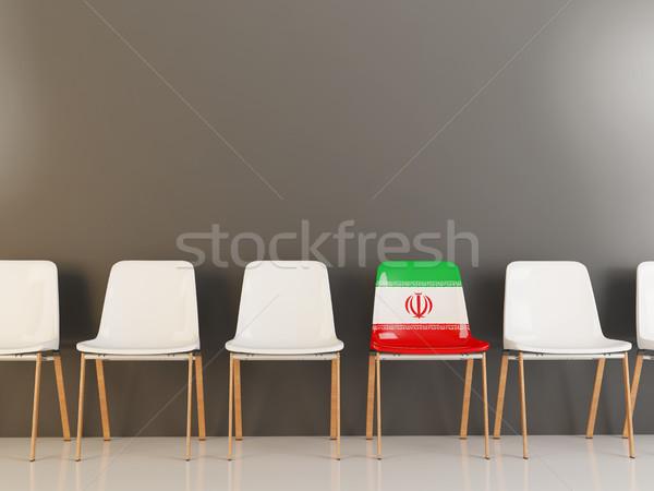 Sandalye bayrak İran beyaz sandalye Stok fotoğraf © MikhailMishchenko