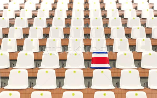 стадион сиденье флаг Коста-Рика белый Сток-фото © MikhailMishchenko