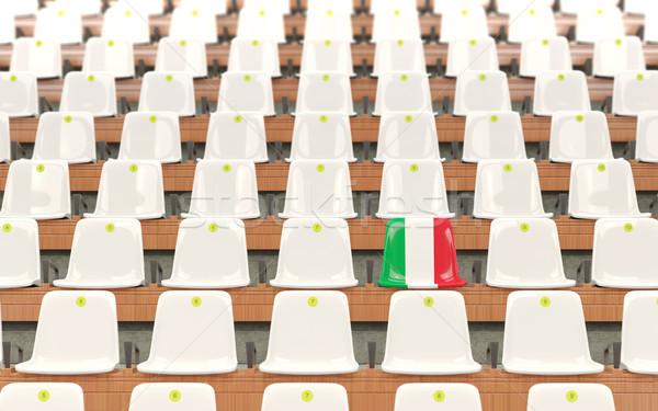 Estádio assento bandeira Itália branco Foto stock © MikhailMishchenko