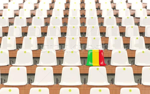 Stadion zitting vlag Mali rij witte Stockfoto © MikhailMishchenko