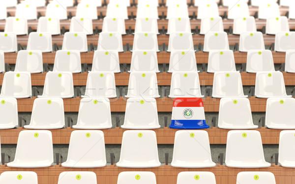 Stadium seat with flag of paraguay Stock photo © MikhailMishchenko