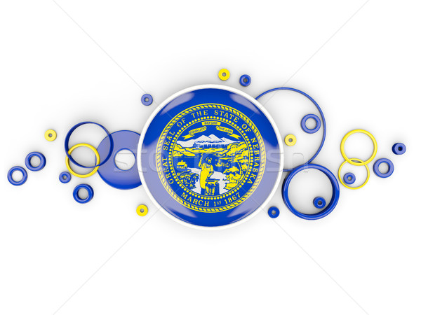 Round flag of nebraska with circles pattern. United states local Stock photo © MikhailMishchenko