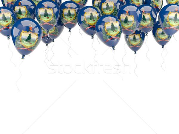 Balonlar çerçeve bayrak Vermont Amerika Birleşik Devletleri yerel Stok fotoğraf © MikhailMishchenko