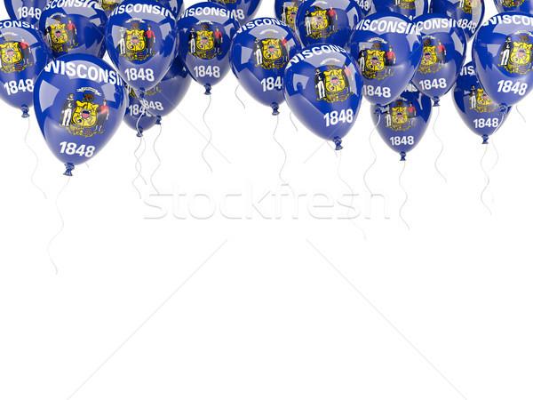 Ballons cadre pavillon Wisconsin États-Unis locale Photo stock © MikhailMishchenko