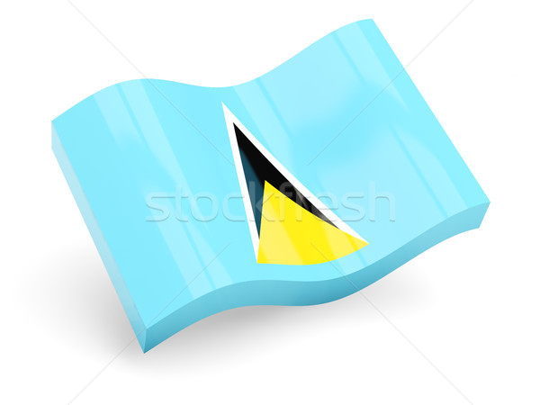 3d flag of saint lucia Stock photo © MikhailMishchenko