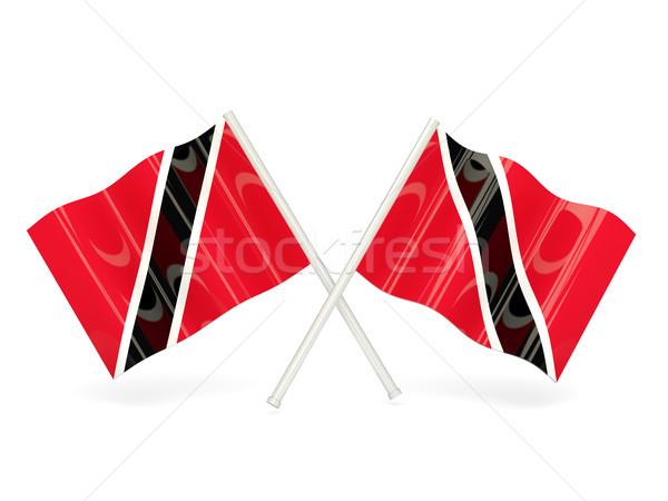 флаг два волнистый флагами изолированный белый Сток-фото © MikhailMishchenko