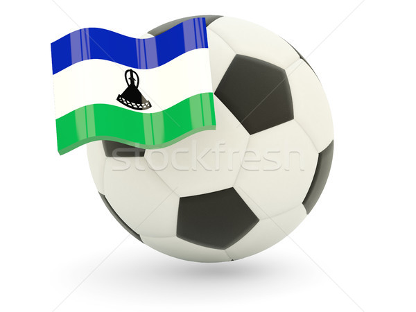 Football pavillon Lesotho isolé blanche sport Photo stock © MikhailMishchenko
