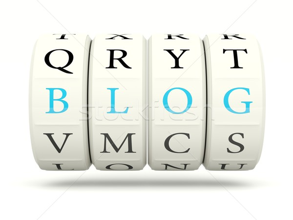 Blog játékautomata izolált fehér internet háló Stock fotó © MikhailMishchenko
