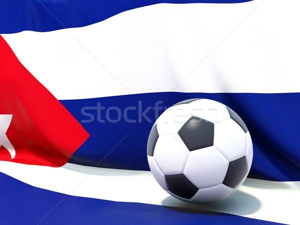 флаг Куба футбола команда стране Сток-фото © MikhailMishchenko