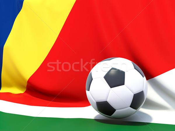 Bayrak Seyşeller futbol takım ülke Stok fotoğraf © MikhailMishchenko