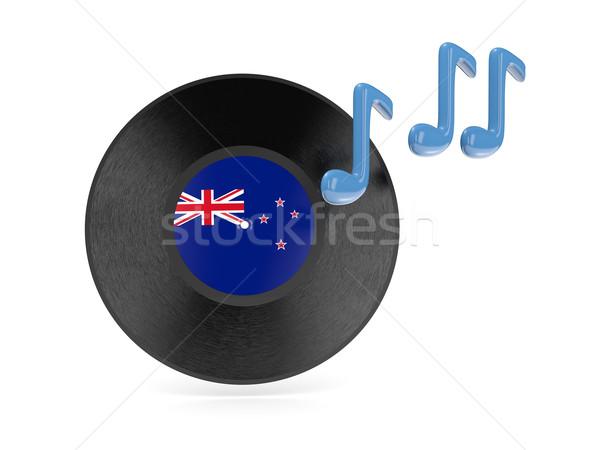 Vinyl schijf vlag New Zealand geïsoleerd witte Stockfoto © MikhailMishchenko