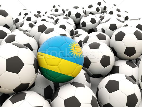 футбола флаг Руанда регулярный лет Сток-фото © MikhailMishchenko
