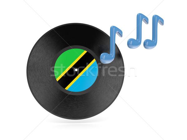 виниловых диск флаг Танзания изолированный белый Сток-фото © MikhailMishchenko