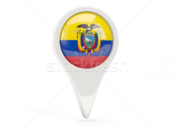 Vlag icon Ecuador geïsoleerd witte kaart Stockfoto © MikhailMishchenko