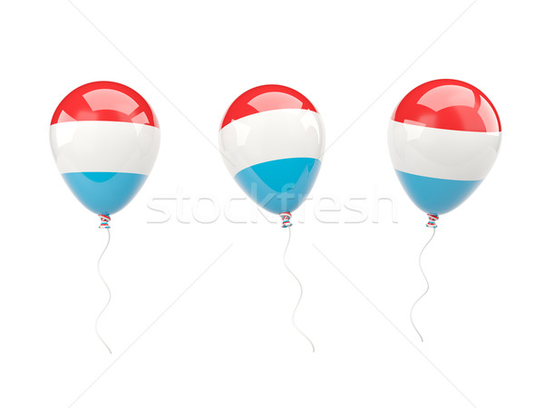 Air balloons with flag of luxembourg Stock photo © MikhailMishchenko