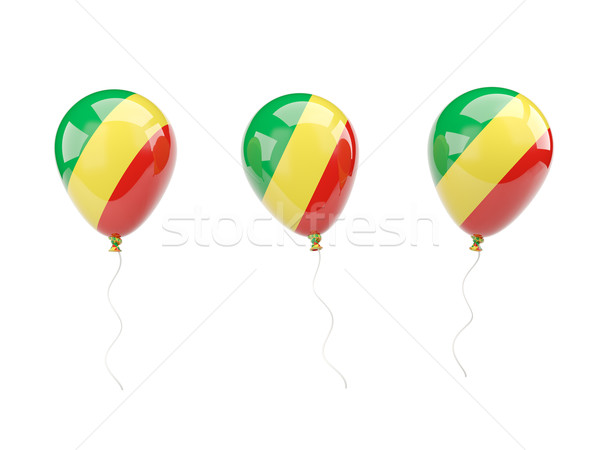 Air balloons with flag of republic of the congo Stock photo © MikhailMishchenko