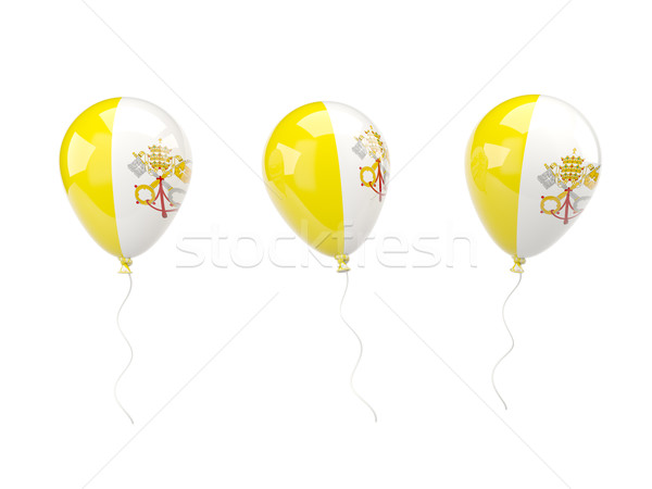 Air balloons with flag of vatican city Stock photo © MikhailMishchenko