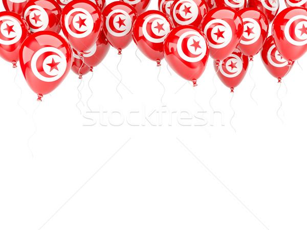 Balloon frame with flag of tunisia Stock photo © MikhailMishchenko
