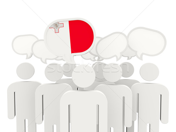 Personas bandera Malta aislado blanco reunión Foto stock © MikhailMishchenko