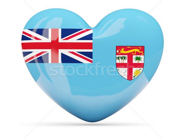 Szív alakú ikon zászló Fidzsi-szigetek izolált Stock fotó © MikhailMishchenko