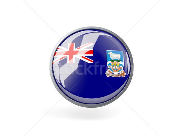 Ikon zászló Falkland-szigetek fém keret utazás Stock fotó © MikhailMishchenko