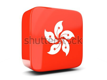 Round button with flag of hong kong Stock photo © MikhailMishchenko