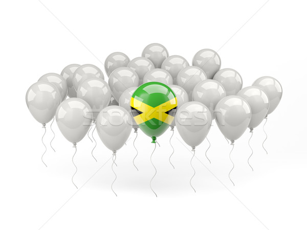 Air balloons with flag of jamaica Stock photo © MikhailMishchenko