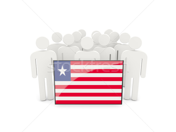 People with flag of liberia Stock photo © MikhailMishchenko