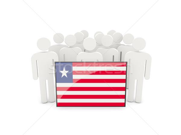 People with flag of liberia Stock photo © MikhailMishchenko